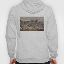Vintage Pictorial Map of Sacramento (1850) Hoody