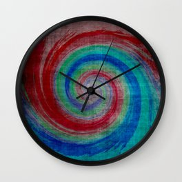 Colored Wave Wall Clock