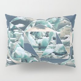 Geometric Icebergs Abstract Pillow Sham
