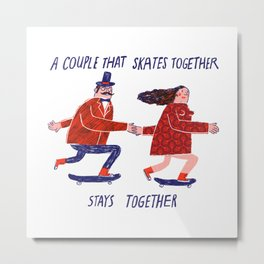 skate couple Metal Print