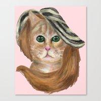 lana del rey Canvas Prints featuring Felina Del Rey by Cattic Fanatic