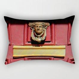 Stage Door 1889 - Please Knock Rectangular Pillow