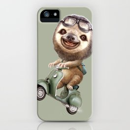 RUNAWAY SLOTH iPhone Case