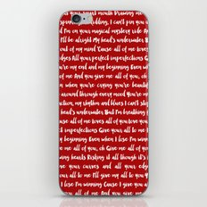 All of me song iPhone & iPod Skin