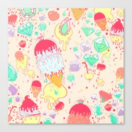 Ice and Cream Canvas Print