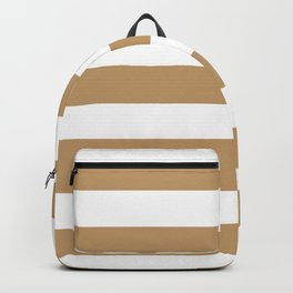 Fallow - solid color - white stripes pattern Backpack