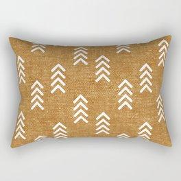 boho arrows on mustard Rectangular Pillow