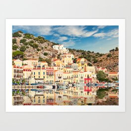 The port of Symi island is definitely the most beautiful in Greece. Art Print