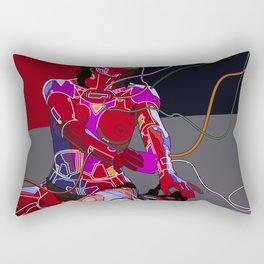 Jessica Biel 80s cyborg Rectangular Pillow