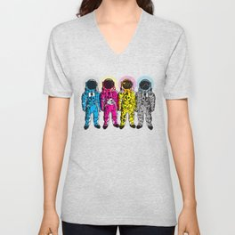 CMYK Spacemen Unisex V-Neck