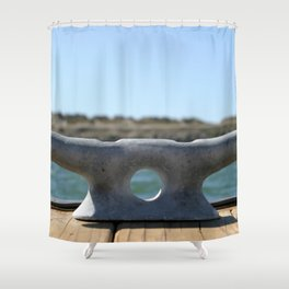 Dock Cleats Shower Curtain