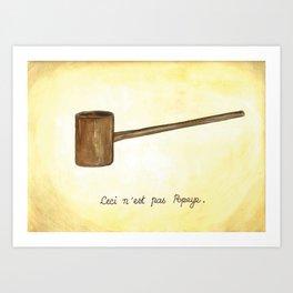 Ceci n'est pas Popeye Art Print