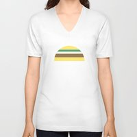 taco V-neck T-shirts featuring Taco by parallelish