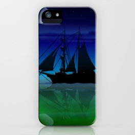 Sailing On A Sea of Green. iPhone Case