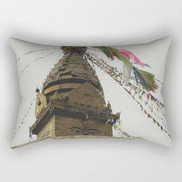 Exploring the City of Kathmandu in Nepal Rectangular Pillow
