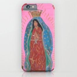Our Lady of Guadalupe - Pink · Virgen de Guadalupe - Rosa iPhone Case