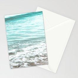 Travel photography wave I aqua ocean wave Stationery Cards