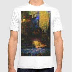 Between dawn and dusk Mens Fitted Tee MEDIUM White
