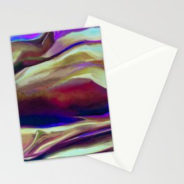 Multicolor Abstract Painting Stationery Cards