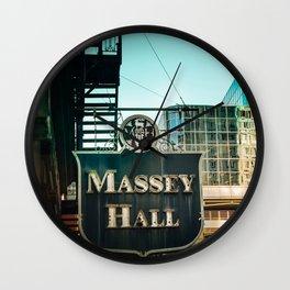Massey hall 2017 Wall Clock