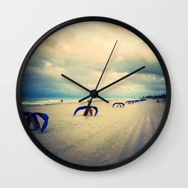 before the deluge (facing right) Wall Clock