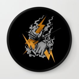 Catching Thunder Wall Clock