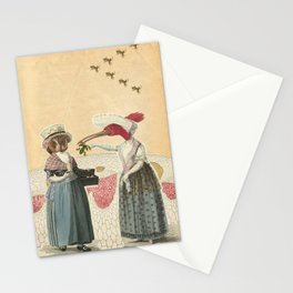 bird neighbors (collage) Stationery Cards