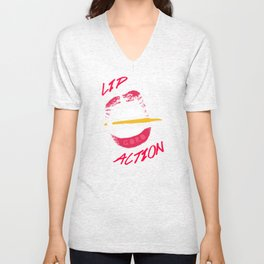 Lip Action Unisex V-Neck