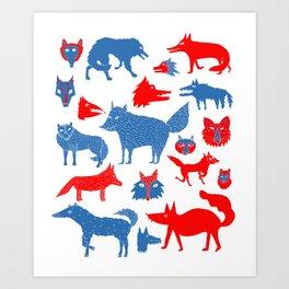 Loups Art Print