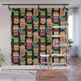 Midcentury Modern Tiki - Black Wall Mural