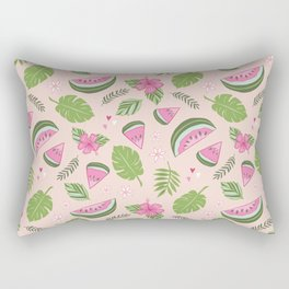 Watermelons on Pink Rectangular Pillow