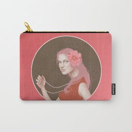 Girl Holding a Pearl Necklace Carry-All Pouch