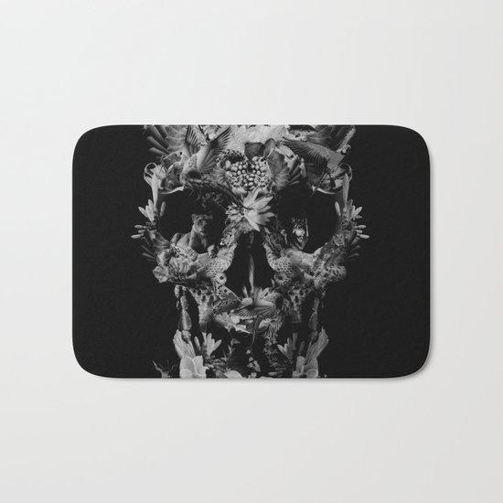 Jungle Skull B&W Bath Mat