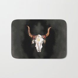 Bull Skull  Bath Mat
