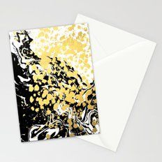 Sukie - abstract gold black and white foil glitter shiny sparkle hipster painting free spirit cosmic Stationery Cards