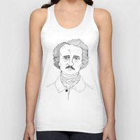 edgar allen poe Tank Tops featuring POE by Dave P
