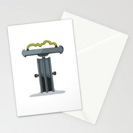 MACHINE LETTERS - T Stationery Cards