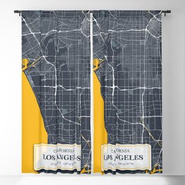 Los Angeles California with GPS Coordinates Blackout Curtain