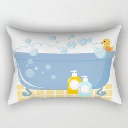 Bubble Bath Tub Rectangular Pillow
