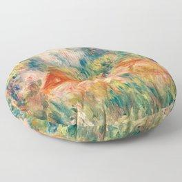 Pierre-Auguste Renoir - Two Women in a Landscape Floor Pillow