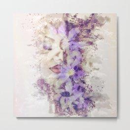 Purple Climbers Metal Print