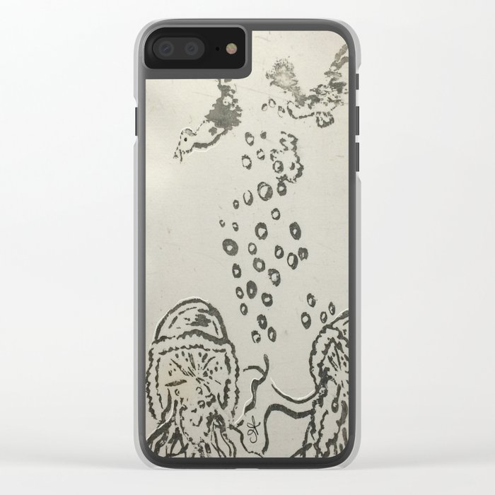 Under The Sea Sketch Clear iPhone Case
