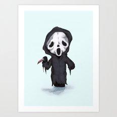 Ghost Face Plush Art Print