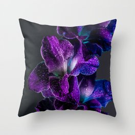 Blue and Purple  Throw Pillow