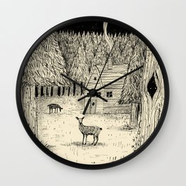 'In The Clearing' Wall Clock