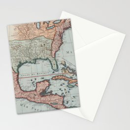 Vintage Map of The Gulf of Mexico (1732) Stationery Cards