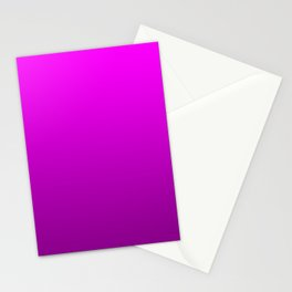 Modern Bright to Dark Magenta Ombre Stationery Cards