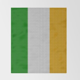 Flag of Ireland - knitted Throw Blanket