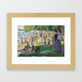 """Un dimanche après-midi à l'île de la Grande Jatte """"A Sunday on La Grande Jatte"""" Georges Seurat, 1886 Framed Art Print"""