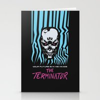 terminator Stationery Cards featuring The Terminator by Daniel Grushecky